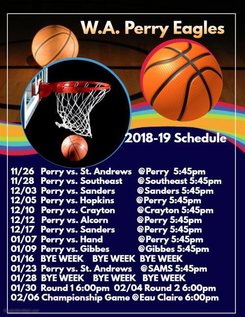 athletics 2018 19 basketball schedule