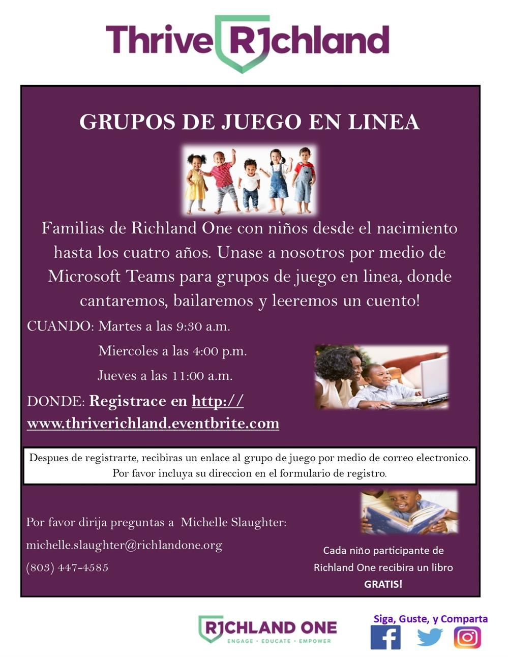 On-line Playgroup Flyer-Spanish