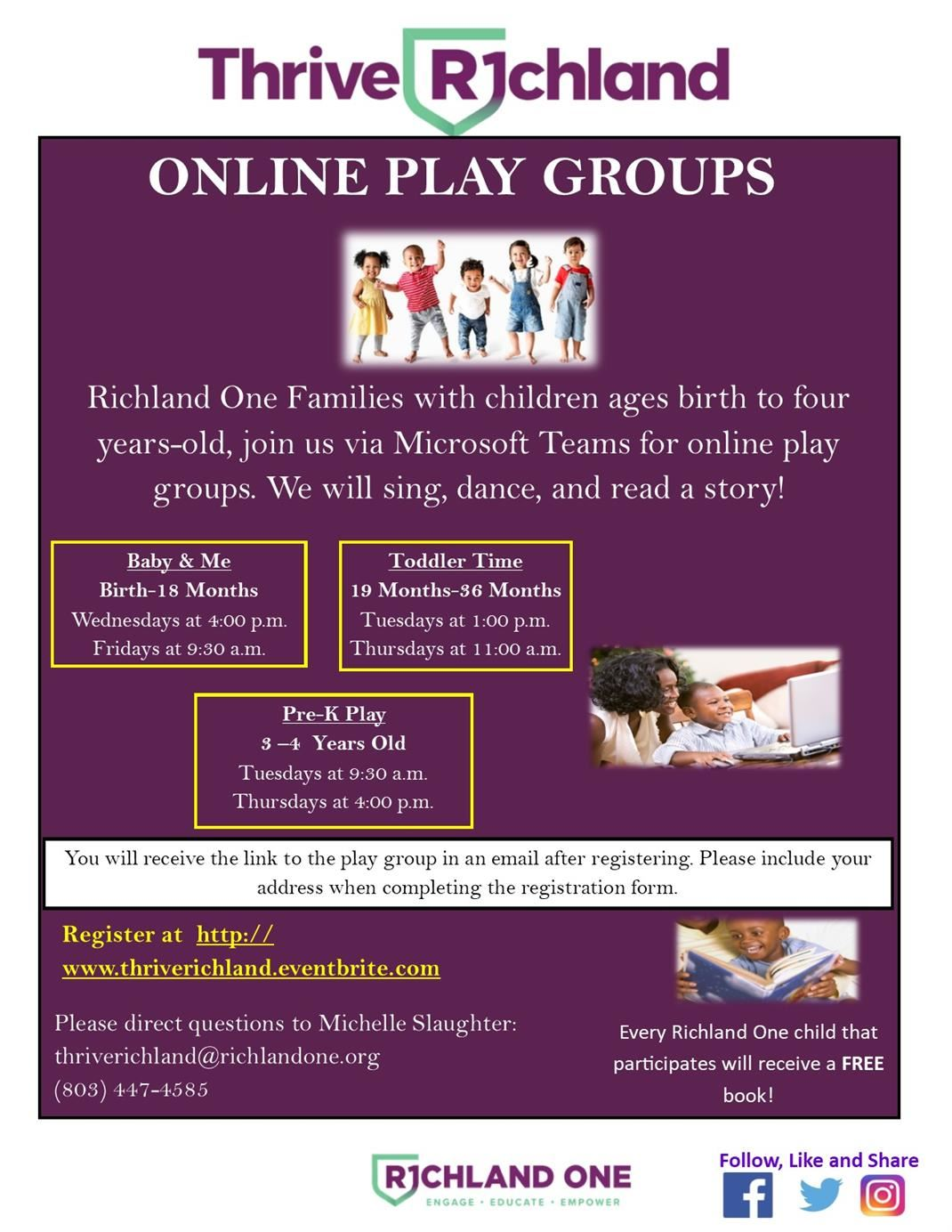 On-line Playgroup Flyer