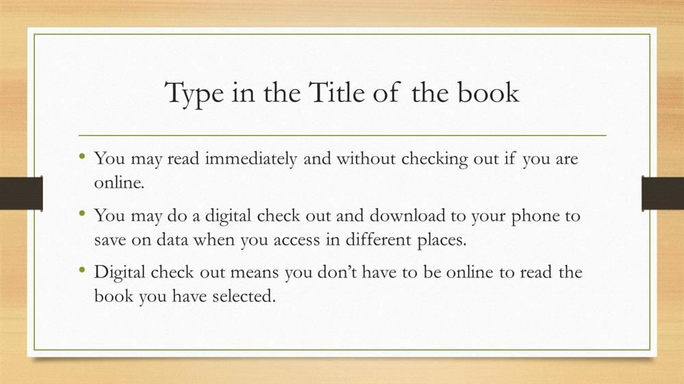 Search for your book by title