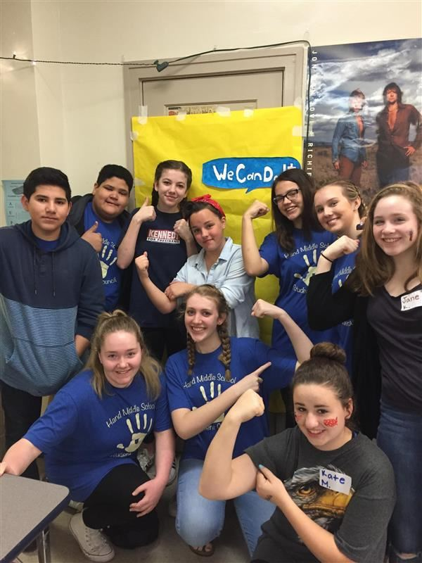 StuCo with Rosie the Riveter