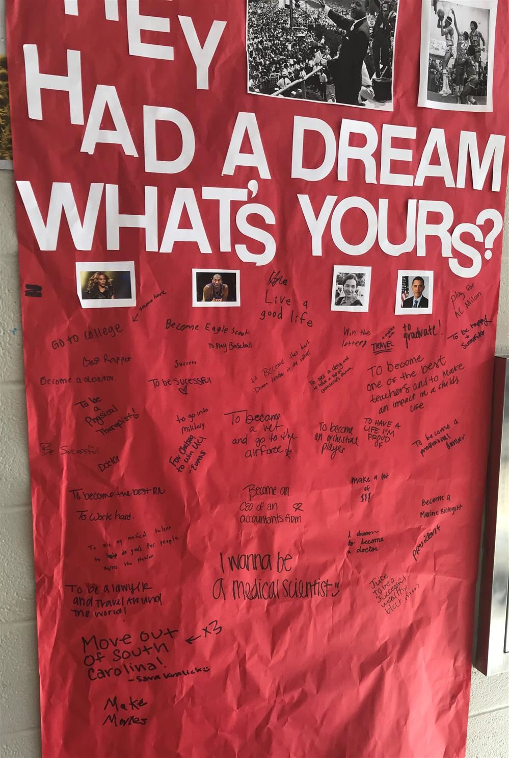Inspired by Black History Month, we asked Dreher students at lunch: