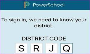 District Powerschool code