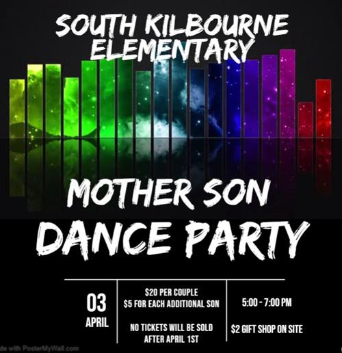 Mother-Son Dance Flyer