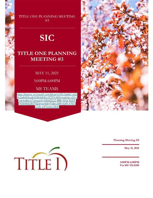 SIC PLANNING MAY