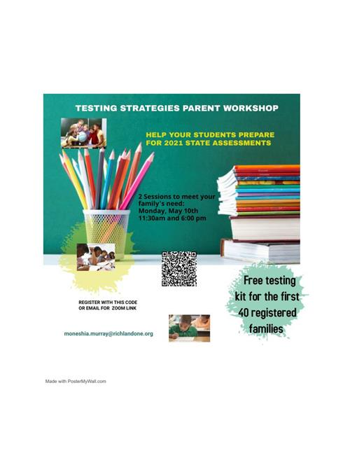 TESTING STRATEGIES PARENT WORKSHOP