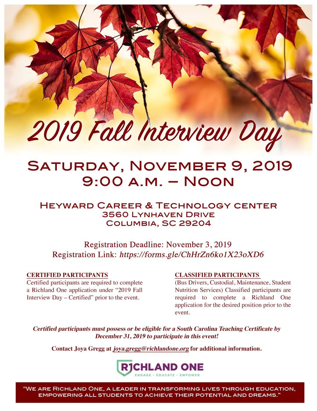 Fall Interview Day