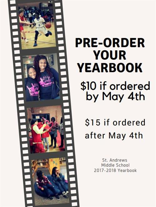 Pre order your yearbook
