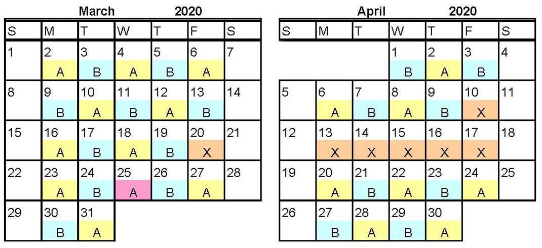 Mar Apr 2020 AB Calendar