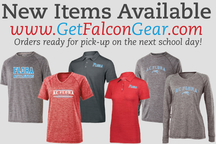 New Flora Gear Available - Orders Ready Next School Day