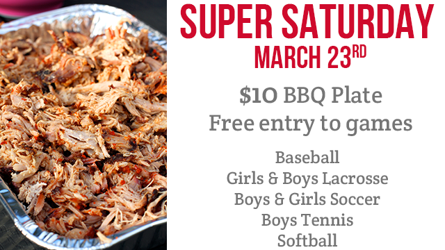 Super Saturday BBQ To Support Athletics - March 23rd