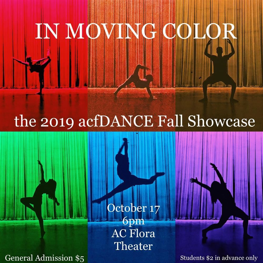 In Moving Color: The 2019 acfDANCE Fall Showcase