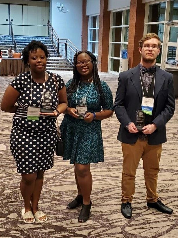 FBLA 1st place winners Logan Clark, Shamiari Dockery and Hannah Whatley advance to the national competition in Salt Lake City