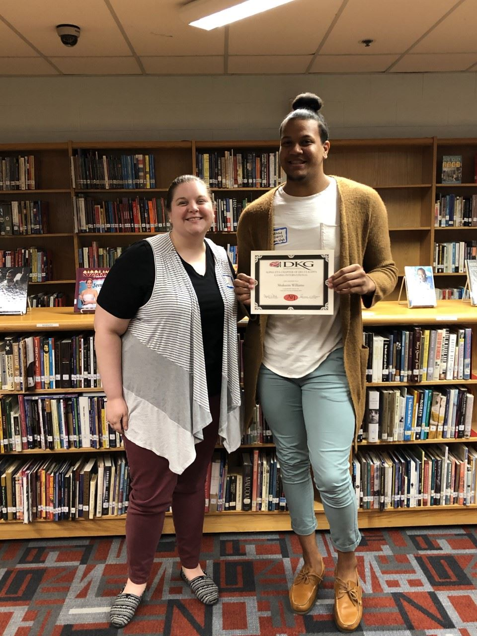 Shakeem Williams, Teacher Cadet and aspiring dance teacher, recieved the Alpha Eta Chapter of Delta Kappa Gamma grant for future teachers.