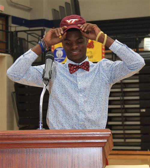 Jacory Patterson Signs with Virginia Tech