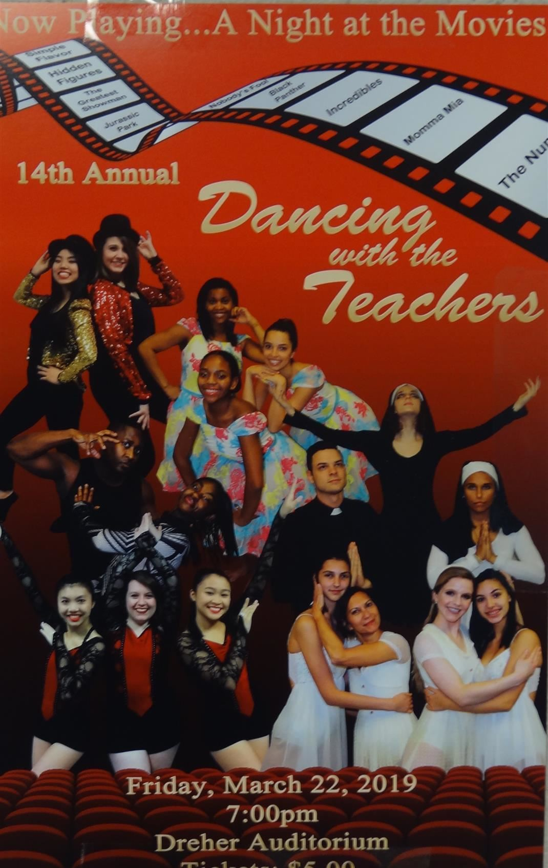 Dancing with the Teachers is Friday, March 22, at 7 PM.