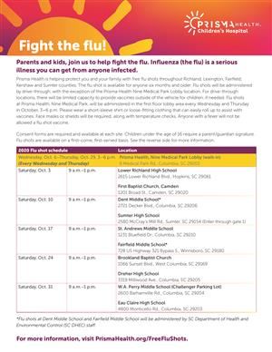 Prisma Health 2020 Flu Shot Clinic and Richland One