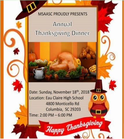 MSAASC's Annual Thanksgiving Dinner