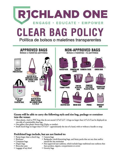 R1SD Clear Bag Policy