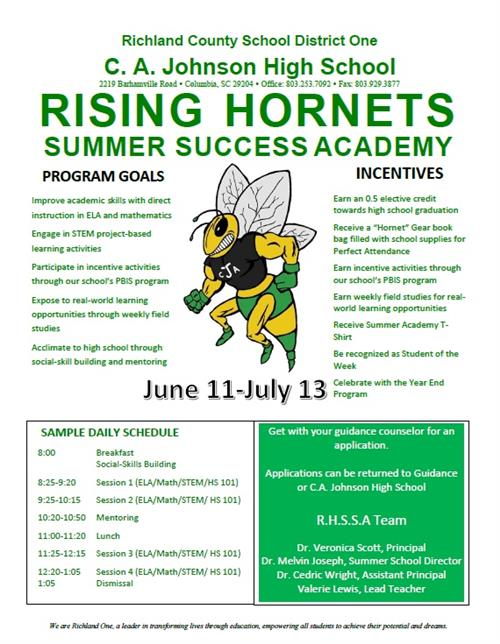 Rising Hornets Summer Success Academy