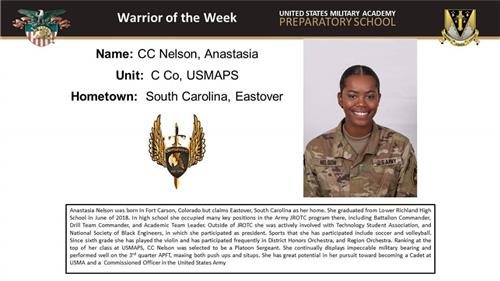 West Point Warrior of the Week