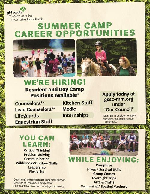Summer Employment Flyer
