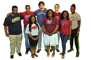 Richland One seniors wearing college tshirts