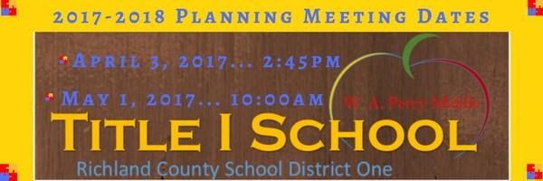 Title 1 Meeting Dates